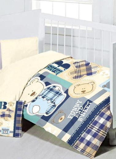 Maxstyle Sweet Bear Bebek Nevresim Takımı 120x180 Cm Renkli